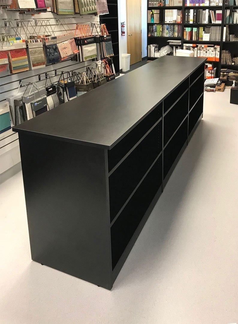 Freestanding Open Shelf Cabinet in the store