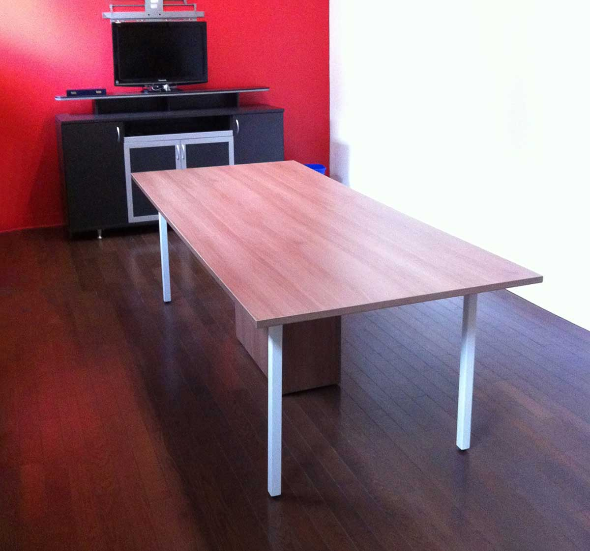 Meeting Table with legs, cabinet