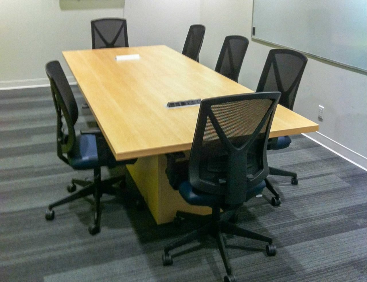 Meeting Table with cable box