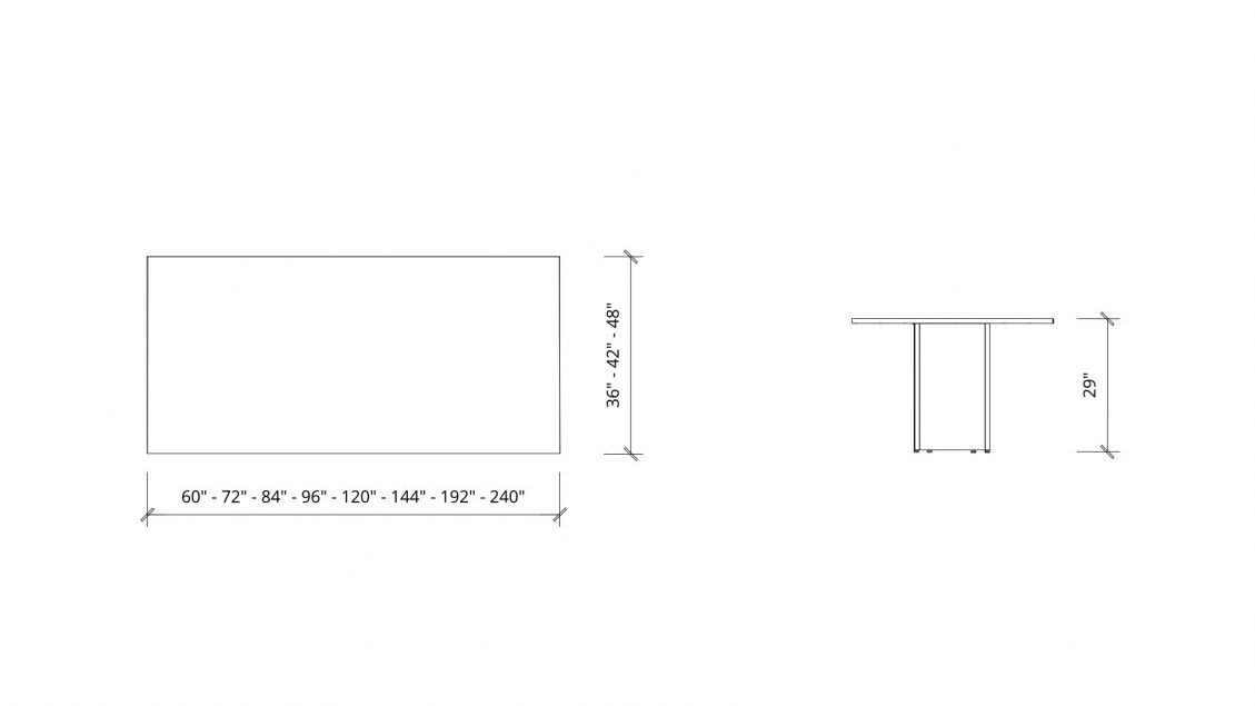 Imperial Dimensions of Boardroom Table 1630
