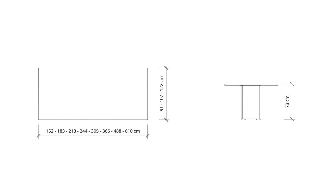 Dimensions of Boardroom Table 1630