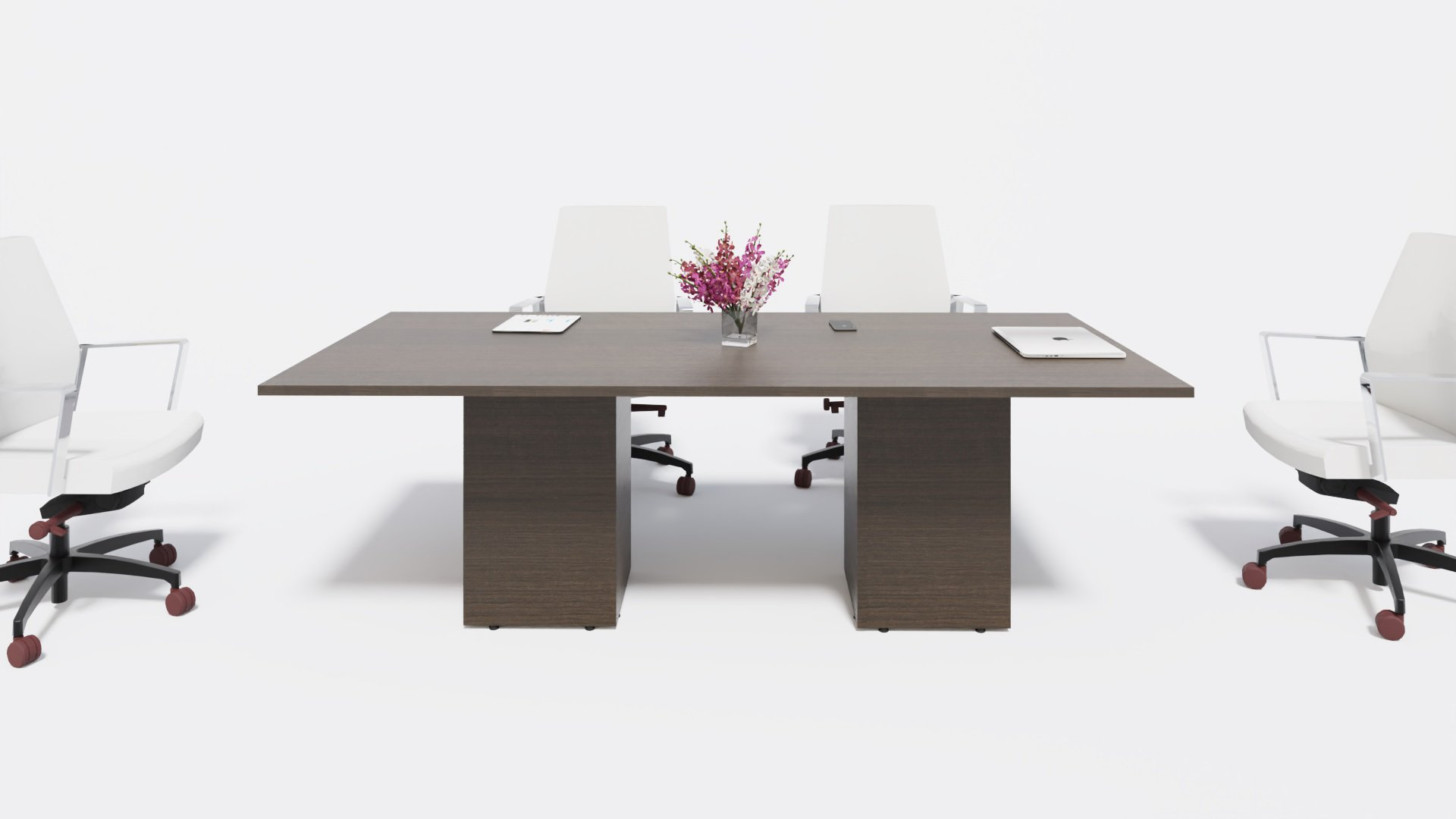 Boardroom Table 1630 with chairs in the scene
