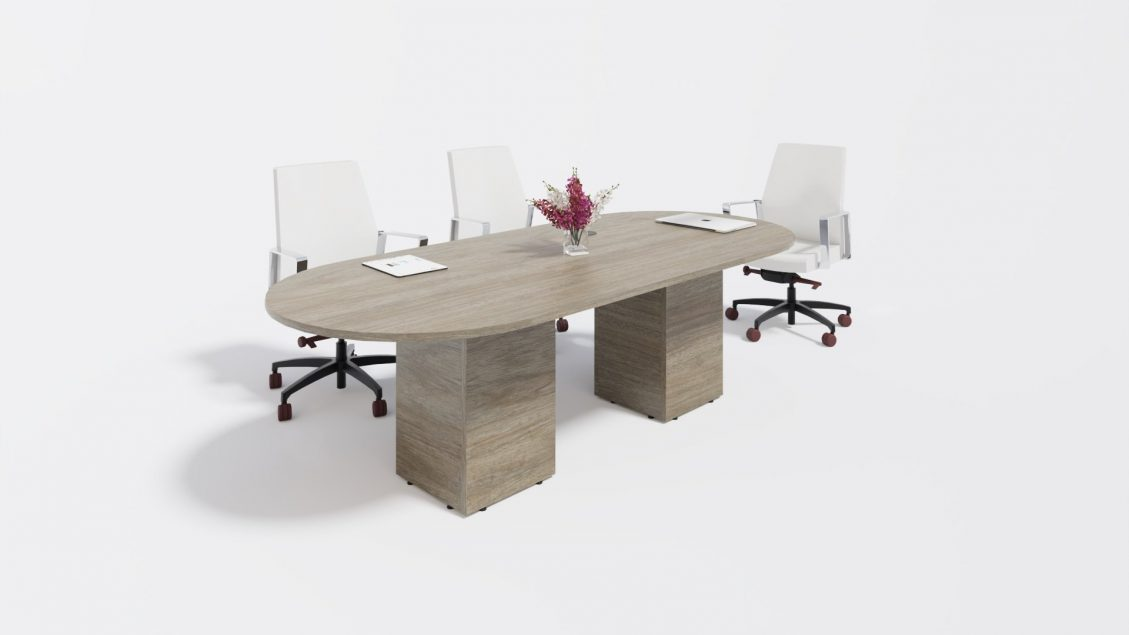 Rectangular Boardroom Table 1384 with chairs