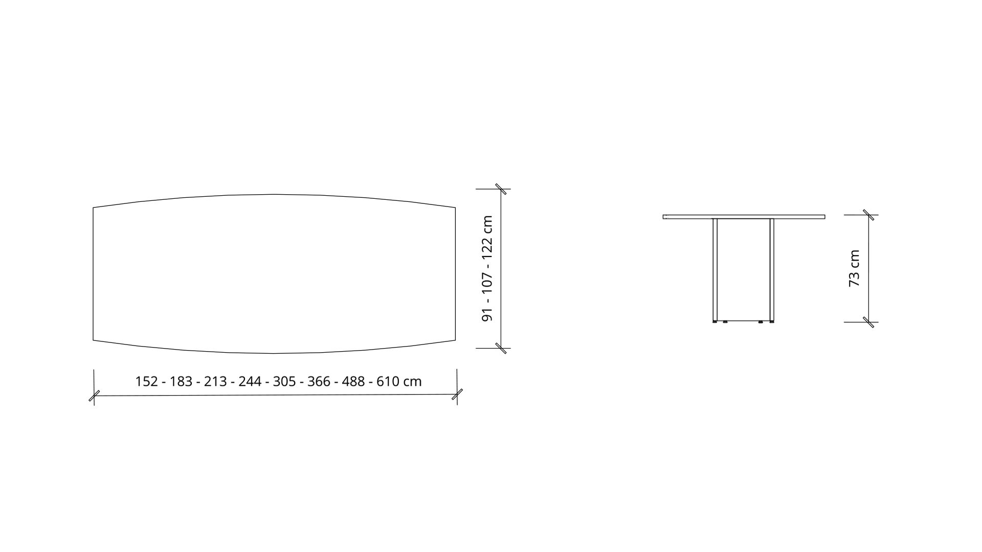 Dimensions of Boat Boardroom Table 1385
