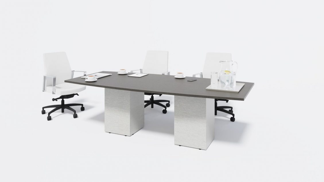 Boat Boardroom Table 1385 with chairs