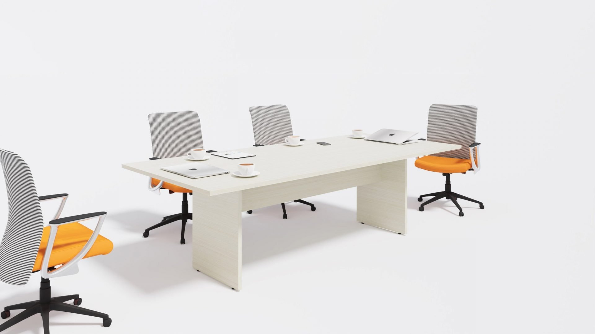 Rectangular Boardroom Table 1388 with chairs