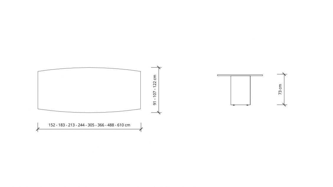 Dimensions of Boat Boardroom Table 1390