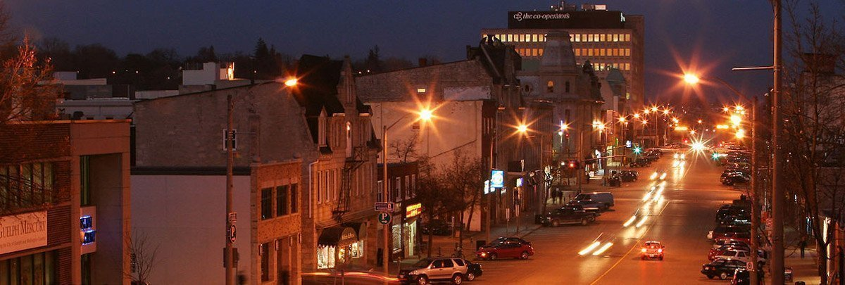 Guelph at night
