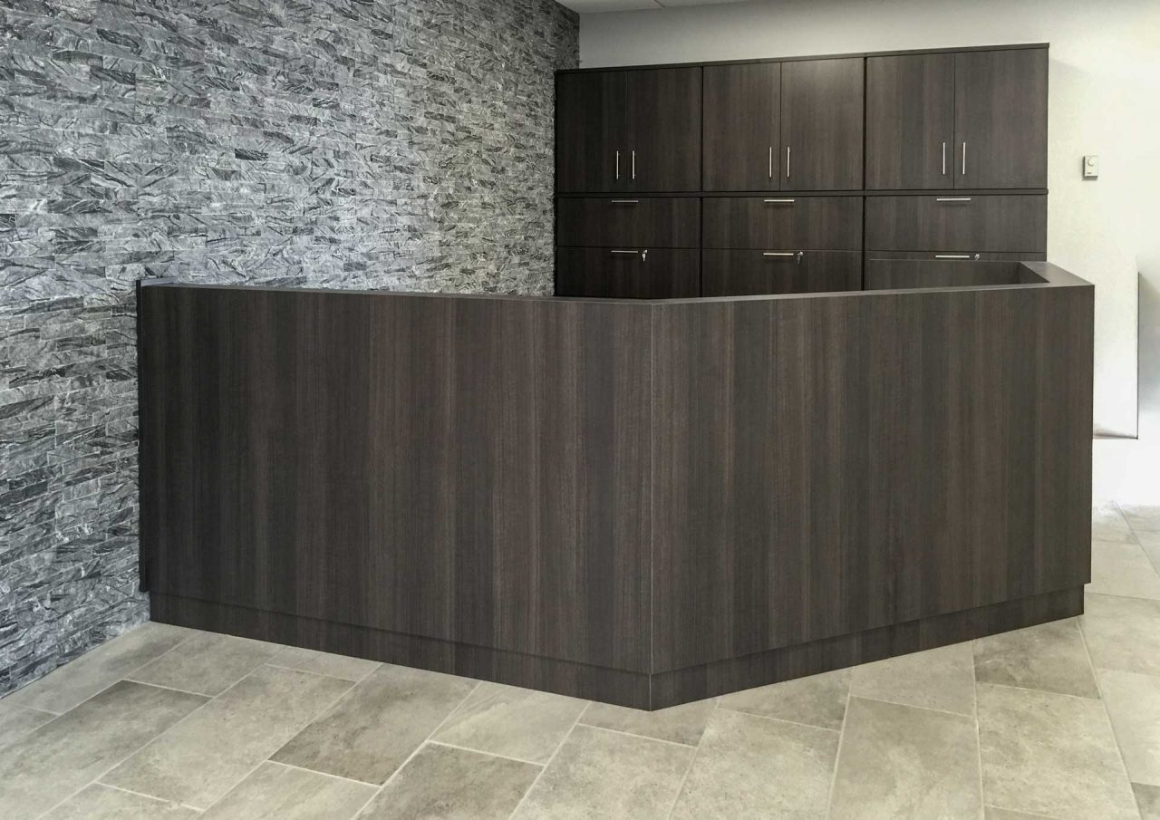 Custom Reception with Cabinet