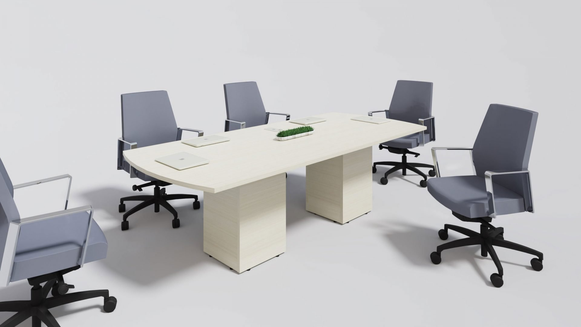 Arc Boardroom Table 1386 with chairs