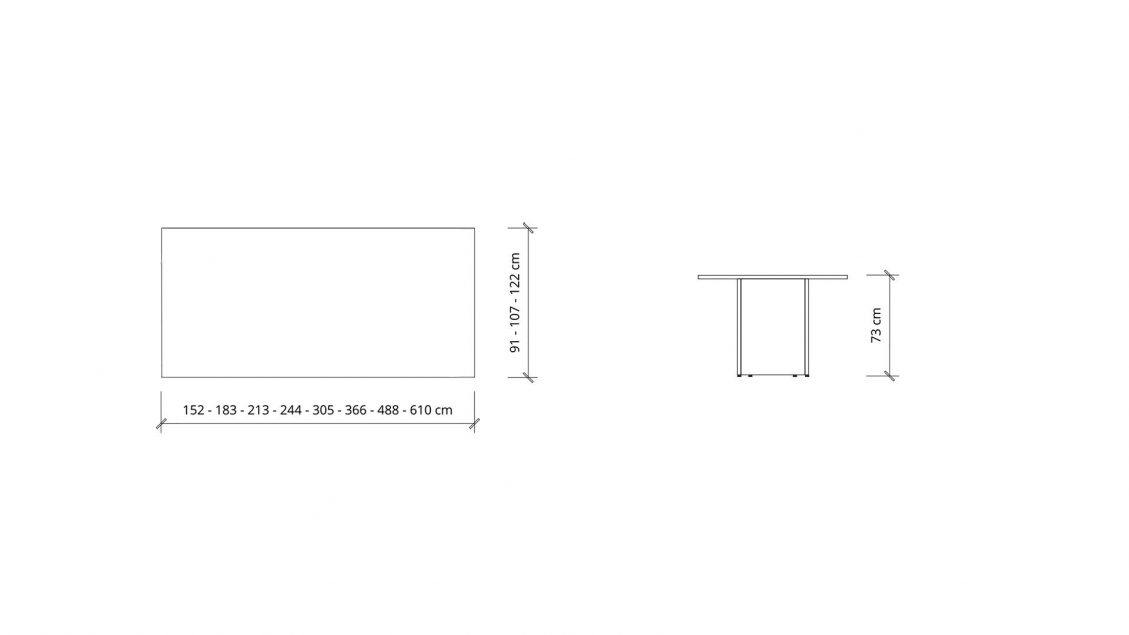 Dimensions of Rectangular Boardroom Table 1398