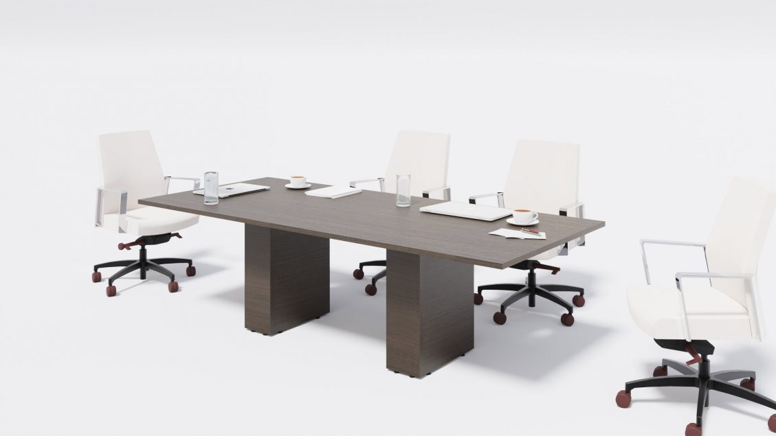 Rectangular Boardroom Table 1398 with chairs