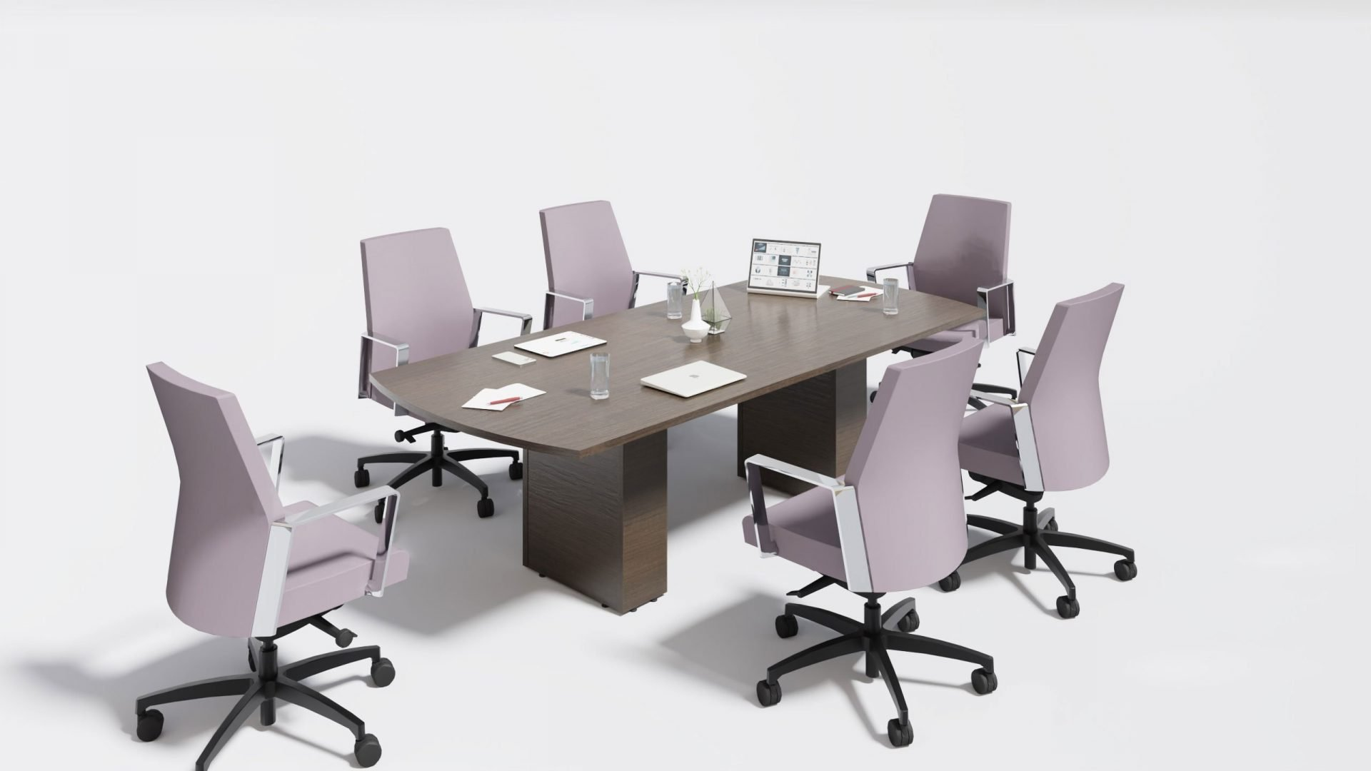 Arc Boardroom Table 1401 with chairs