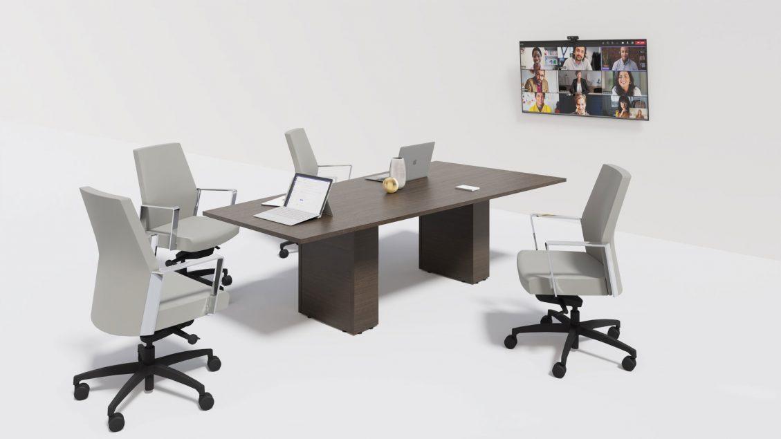 Trapezoid Boardroom Table 1402 in the scene