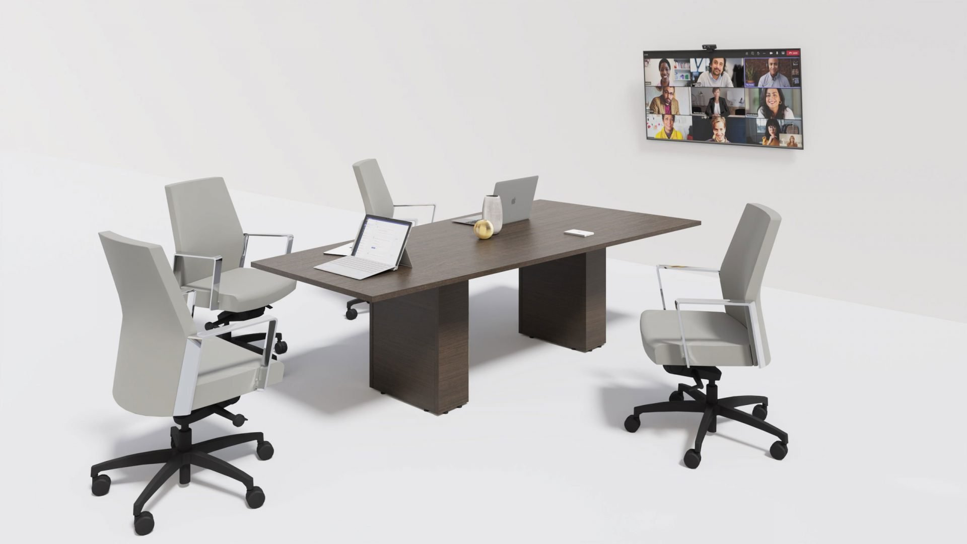 Trapezoid Boardroom Table 1402 in the scene