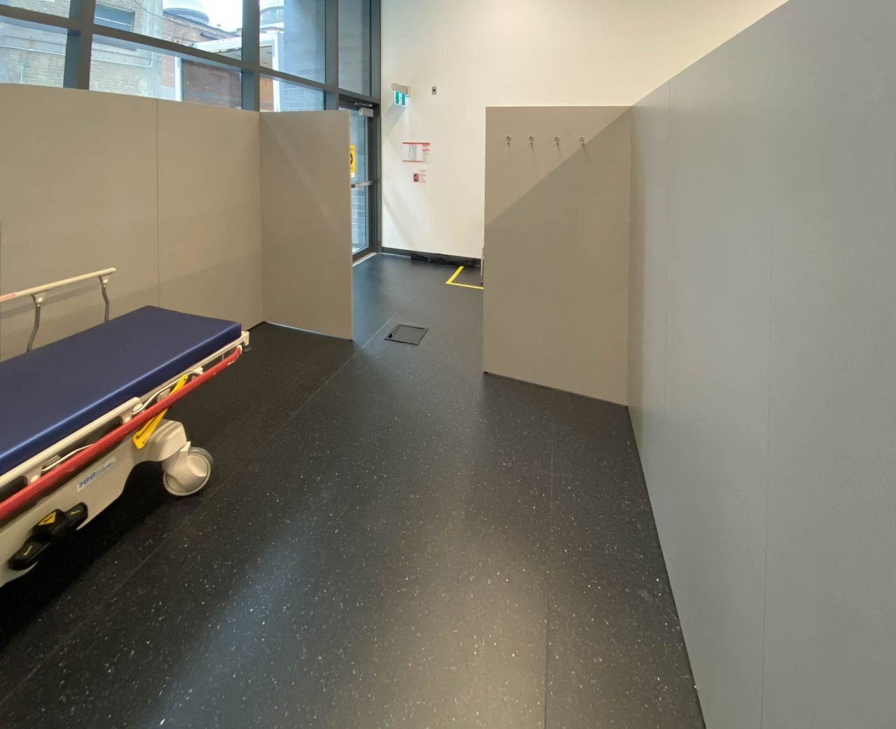 Custom First Aid Room in the COVID-19 vaccination clinic