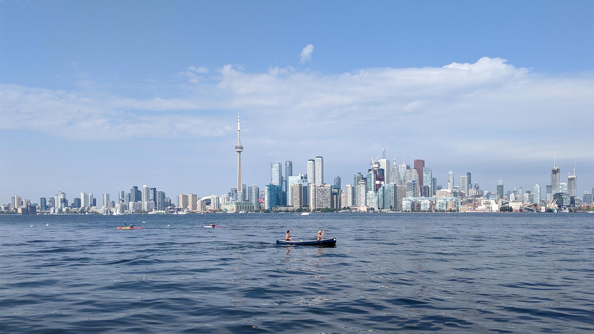 Toronto skyline from the Islands