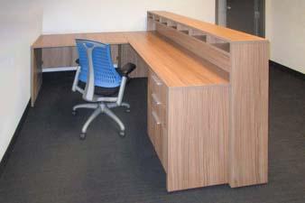 Custom Reception with a chair
