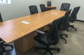 Custom Branding of Stations, Reception, Meeting Room