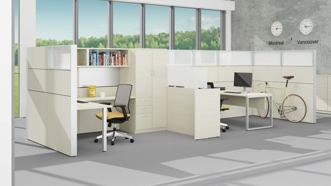 Station 799 in the open office