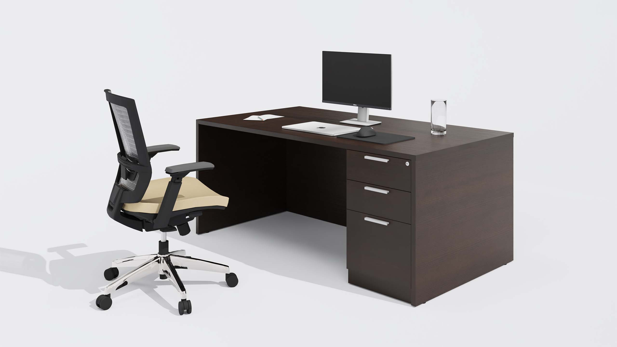 Laminate Desk 2432 from the back