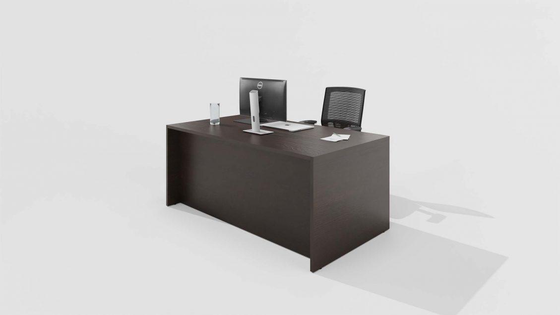 Laminate Desk 2432 on a grey background