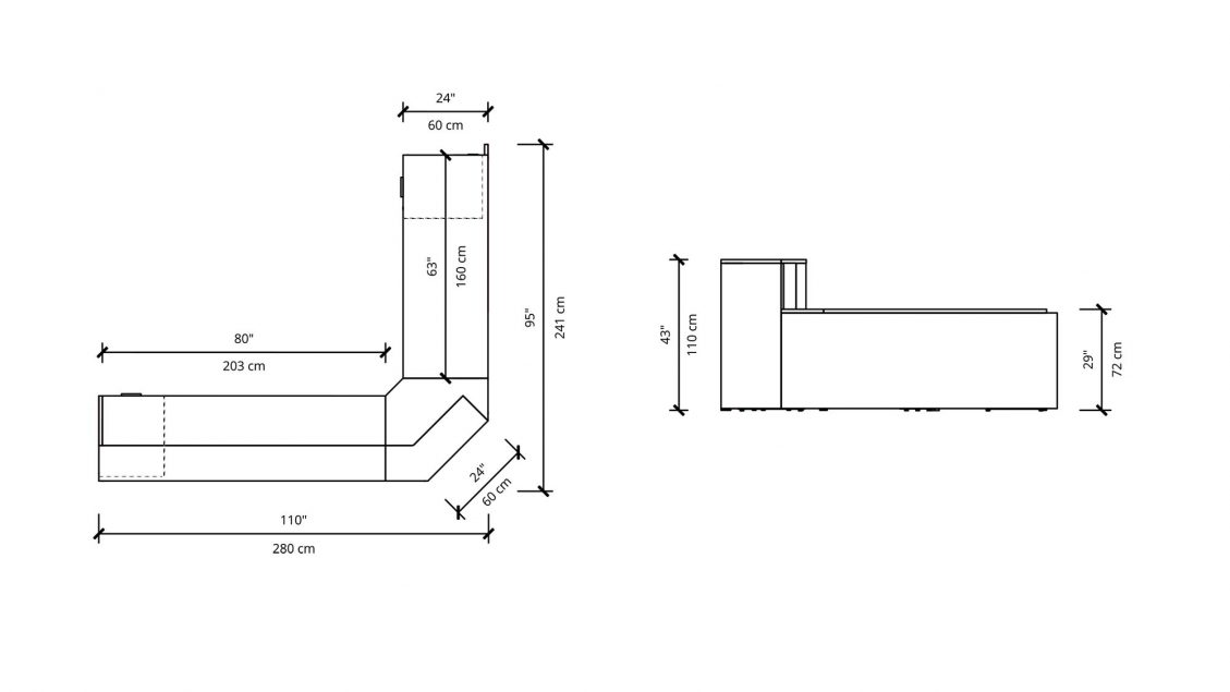 Dimensions of Reception 2925