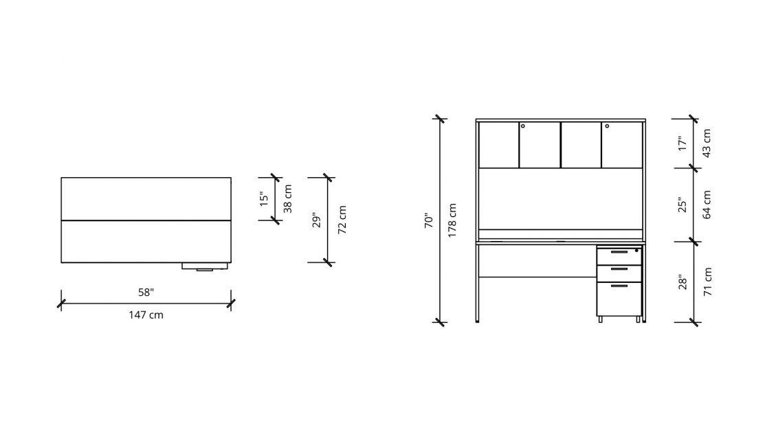 Hutch Desk 2930