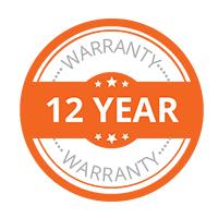 12 year warranty logo