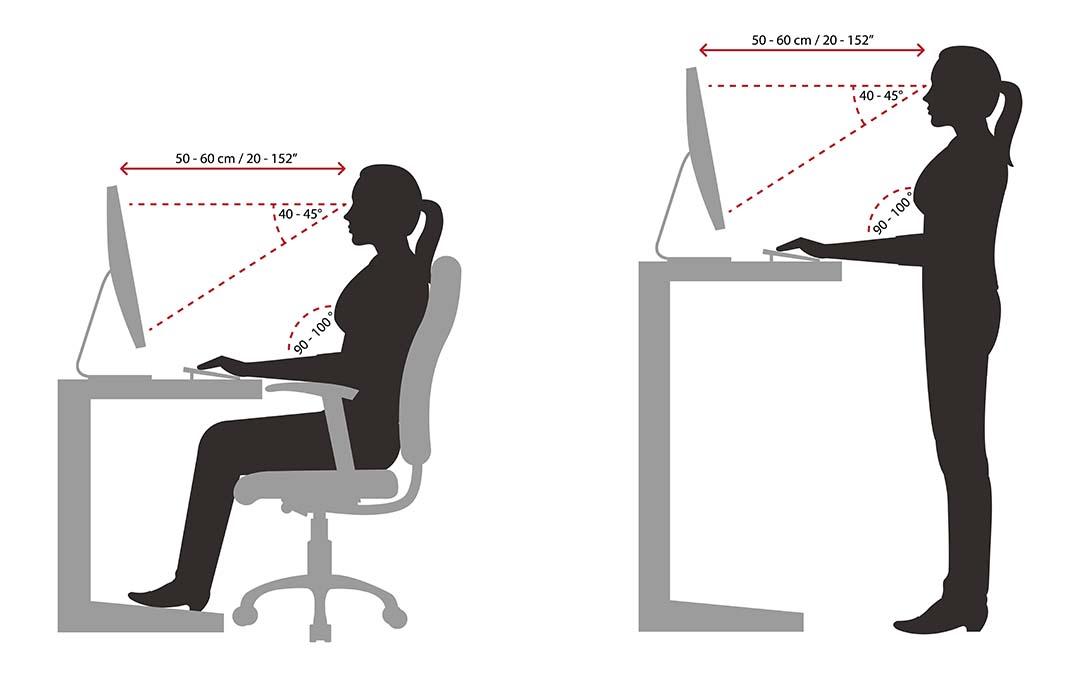 Workstations Ergonomics illustration