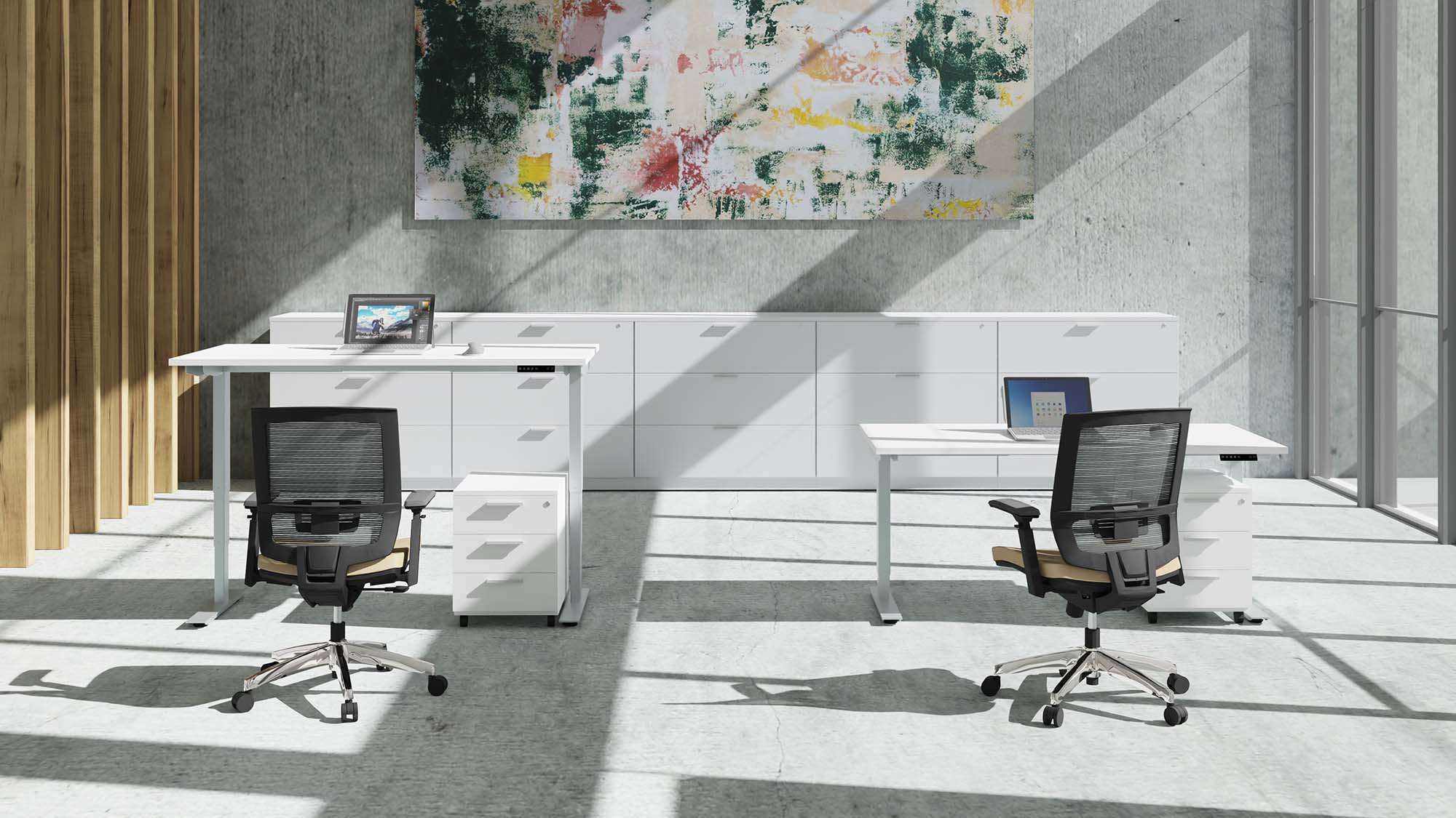 Sit-Stand with Entail office chair