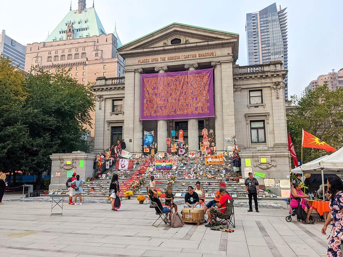 Art Museum Vancouver Indigenous protest