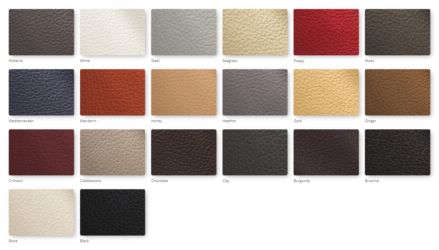 Madras leather upholstery